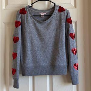 """heart on my sleeve"" Victoria's Secret sweater"